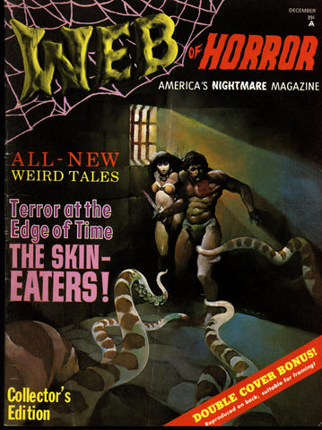 WEB OF HORROR #1 Jeff Jones Berni Wrightson Michael Kaluta Science Fiction Sexy Barbarian Fantasy Fanzine*