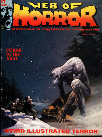WEB OF HORROR #3 Jeff Jones Berni Wrightson Michael Kaluta Science Fiction Sexy Barbarian Fantasy Fanzine*