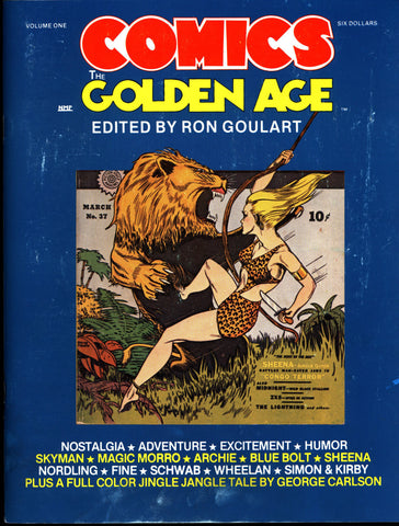 Comics The GOLDEN AGE #1 Ron Goulart Jack Kirby Joe Simon Sheena Archie Nordling Blue Bolt Skyman Fiction House