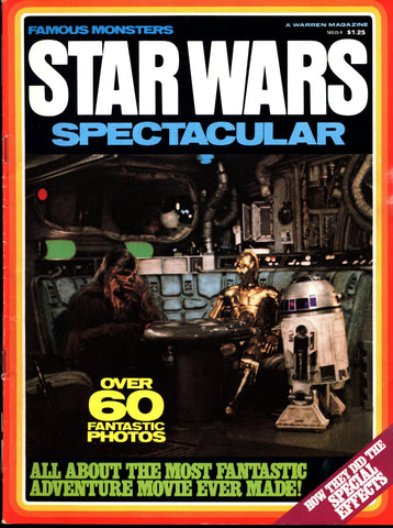 STAR WARS SPECTACULAR George Lucas Harrison Ford Han Solo Mark Hammil Luke Skywalker Carrie Fisher Princess Leia Darth Vader C3PO R2-D2