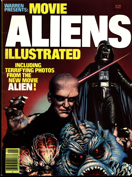 Warren Presents ALIENS Illustrated 1979 Alien Ridley Scott H R Giger Sigourney Weaver Star Wars The Thing Saucermen Martians Invaders