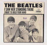 "BEATLES 7"" Picture Sleeve I Want To Hold Your Hand I Saw Her Standing There John Lennon Paul McCartney GeoHarrison Ringo British Invasion"