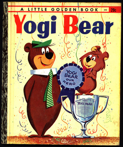 YOGI BEAR Boo Boo Hanna Barbera TV  Cartoon Illustrated Little Golden Book 395 Childrens Kids Book