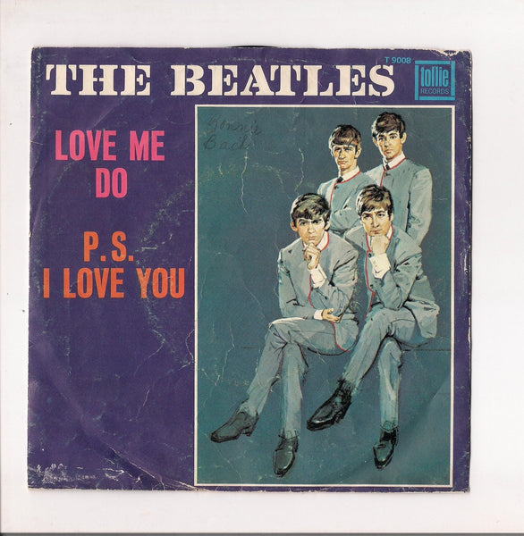 "BEATLES 7"" Picture Sleeve Tollie 9008 Love Me Do P. S. I Love You John Lennon Paul McCartney George Harrison Ringo Starr British Invasion"