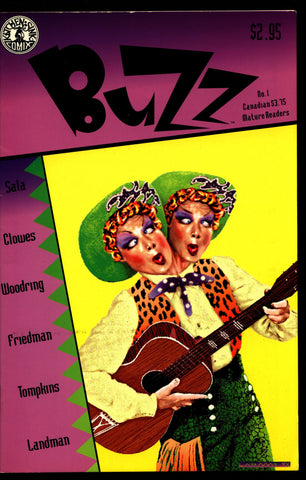 BUZZ #1 Quirky Mature Humor Anthology Comics by Friedman Sala Clowes Woodring Tompkins Landman Kitchen Sink
