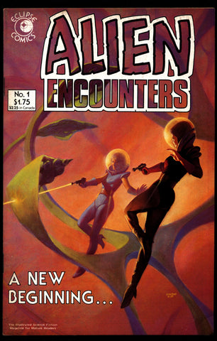 ALIEN ENCOUNTERS #1 Mark Hempel Ken Macklin Mike Hoffman Mike Gustovich eclipse Comics Science Fiction Horror