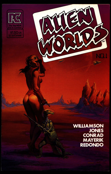 ALIEN WORLDS #1 Bruce Jones Al Williamson Val Mayerik Tim Conrad Rick Geary Pacific Comics Science Fiction Horror Alternative Independent