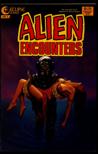 ALIEN ENCOUNTERS #7 Bruce Jones Bo Hampton Richard Howell Rick Geary Chuck Beckum eclipse Comics Science Fiction Horror