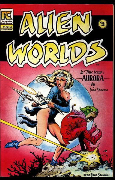 ALIEN WORLDS #2 Aurora by Bruce Jones Dave Stevens Ken Steacy Pacific Comics Science Fiction Horror Alternative Independent