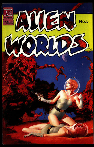 ALIEN WORLDS #5 Bruce Jones John Bolton Tom Yeates Adolpho Buylla Ken Steacy Pacific Comics Science Fiction Horror