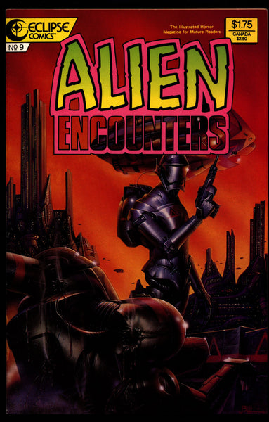 ALIEN ENCOUNTERS #9 Bruce Jones John Bolton Larry Elmore Lee Weeks John K. Snyder III eclipse Comics Science Fiction Horror