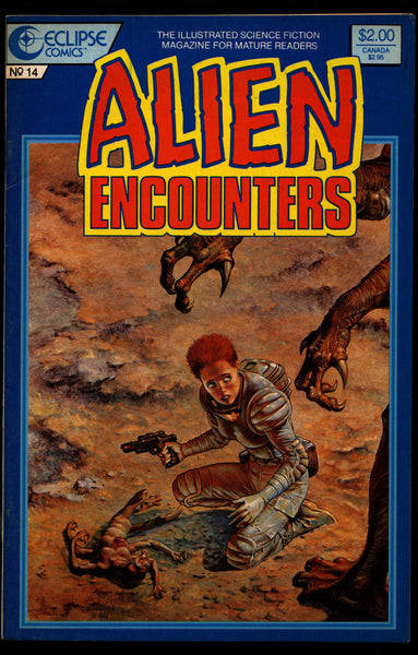 ALIEN ENCOUNTERS #14 Buster Crabbe John Ridgway Graham Nolan Thomas Wimbish Tom Lyle Beppe Sabatini eclipse Comics Science Fiction Horror