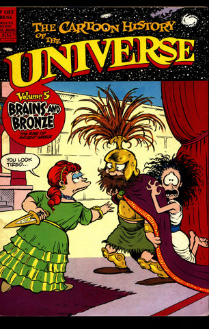 CARTOON HISTORY of the UNIVERSE V 5 Larry Gonick Bronze Age Ancient Greece Trojan War Argonauts Comic Book