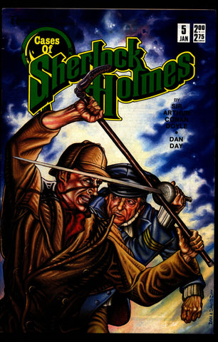 Cases of SHERLOCK HOLMES #5 Sir Arthur Conan Doyle Dan Day The Adventure of the Engineer's Thumb Dr. Watson Mystery Comic Book