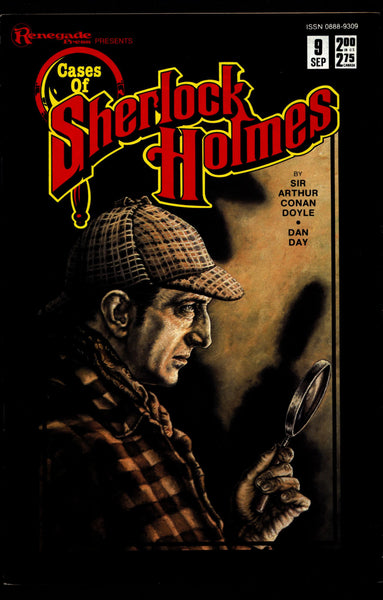 Cases of SHERLOCK HOLMES #9 Sir Arthur Conan Doyle Dan Day The Adventure of the Copper Beeches Dr. Watson Mystery Comic Book