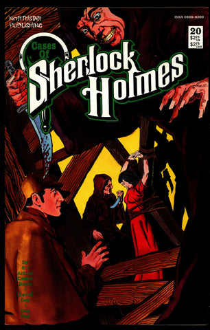 Cases of SHERLOCK HOLMES #20 Sir Arthur Conan Doyle Dan Day The Red-Headed League Dr. Watson Mystery Comic Book