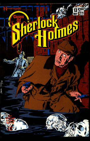 Cases of SHERLOCK HOLMES #13 Sir Arthur Conan Doyle Dan Day Adventure of the Naval Treaty, The Part 1 Dr. Watson Mystery Comic Book