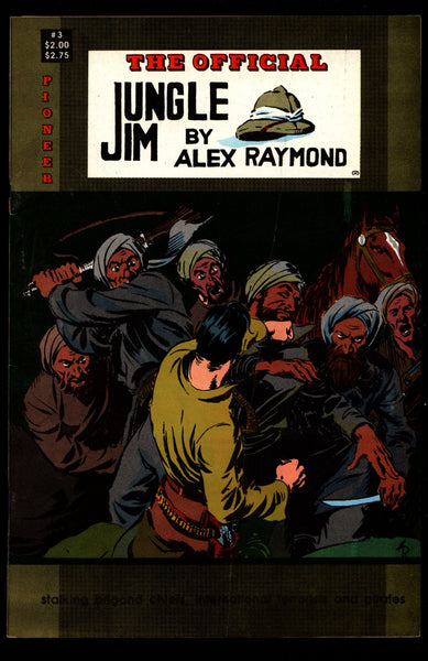 Official JUNGLE JIM Bradley #3 Alex Raymond Jungle Action Adventure Comic Book Newspaper Reprints Pioneer Comics