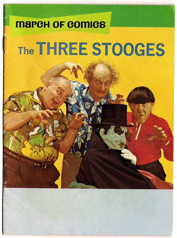 THREE STOOGES March of Comics #336 1969 Moe Howard Larry Fine Curly Joe Norman Maurer Columbia Pictures Slapstic Comedy TV Superstars
