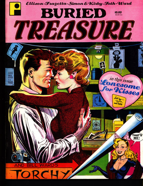 "BURIED TREASURE #2 ""Desire"" Harlan Ellison FRAZETTA Simon & Kirby Alex Toth Bill Ward PinUp Queen Torchy Science Fiction Cartoon Fantasy Art"