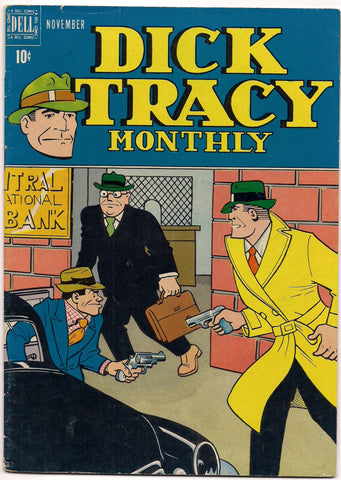 'DICK TRACY' MONTHLY #11 1948 Chester Gould Dell Comics crime comics Detective Toby Junior Tess Trueheart