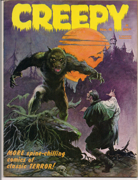 CREEPY #4 Horror Comics Magazine Frank Frazetta Al Williamson Gray Morrow Reed Crandall Ambrose Bierce Adam Link Otto Binder Joe Orlando