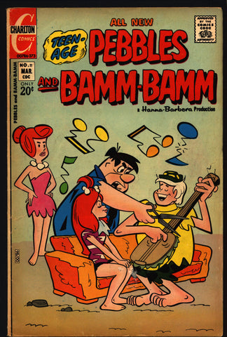 FLINTSTONES Pebbles and Bamm-Bamm #11 1973 Fred Wilma Hanna-Barbera Charlton