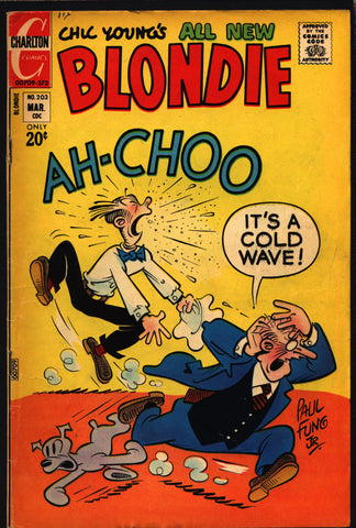 Blondie Comics #203 1973 Chic Young Dagwood Bumstead Mr. Dithers Charlton Newspaper Funnies