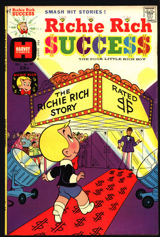 RICHIE RICH SUCCESS Stories #59 Poor Little Rich Boy 1974 Richie Rich and his pals Pee-Wee Freckles Cousin Reggie Gloria Harvey Comics