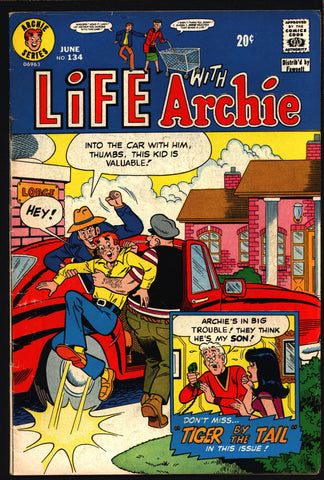 Life With Archie Comics  #134 1973 Archie Andrews Jughead Betty & Veronica Riverdale High