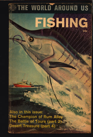 CLASSICS ILLUSTRATED Comics World Around Us FISHING #34 Reed Crandall George Evans by Gilberton