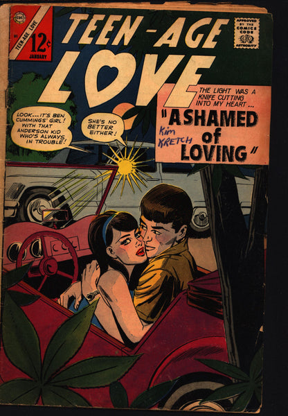 Teen-Age LOVE #51 1967 ROMANCE Comics Tear Jerker Soap Opera Charlton Comic