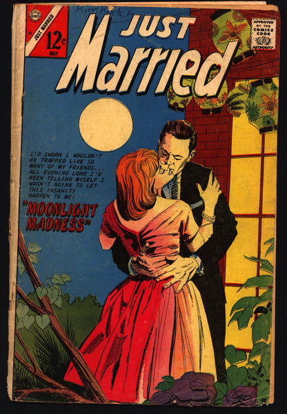 JUST MARRIED #52 1967 Love on the Rocks Teen Age Love Tear Jerker Soap  Opera Charlton Comic