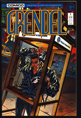 GRENDEL #5 2nd Series Christine Spar Matt Wagner Beowulf Arnold & Jacob Pander Brothers Comico Martial Arts Ninja Cult Comics