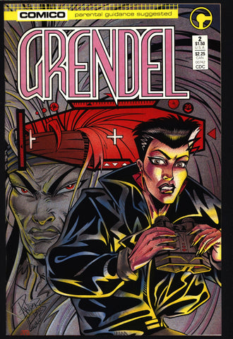 GRENDEL #2 2nd Series Hunter Rose Christine Spar Matt Wagner Beowulf Arnold & Jacob Pander Brothers Comico Martial Arts Ninja Cult Comics