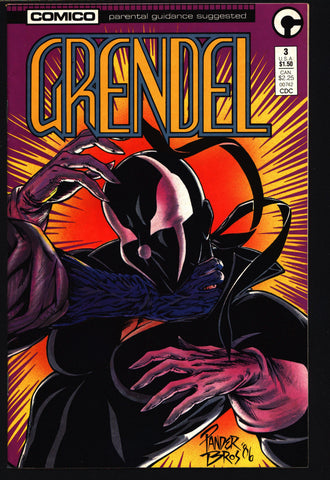 GRENDEL #3 2nd Series Christine Spar Matt Wagner Beowulf Arnold & Jacob Pander Brothers Comico Martial Arts Ninja Cult Comics