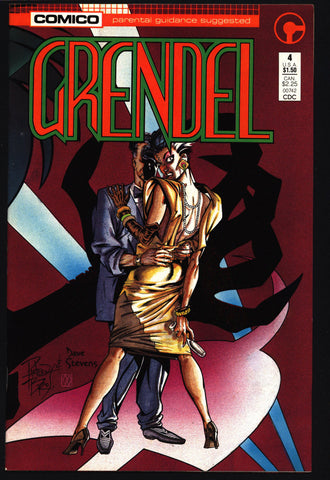 GRENDEL #4 2nd Series Christine Spar Matt Wagner Beowulf Arnold & Jacob Pander Brothers Comico Martial Arts Ninja Cult Comics