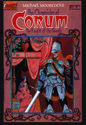 Chronicles of CORUM #2 Knight of Swords Michael Moorcock Mike Baron Mike Mignola Mabden Sword Rulers & Sorcery Magick Fantasy Comic Book