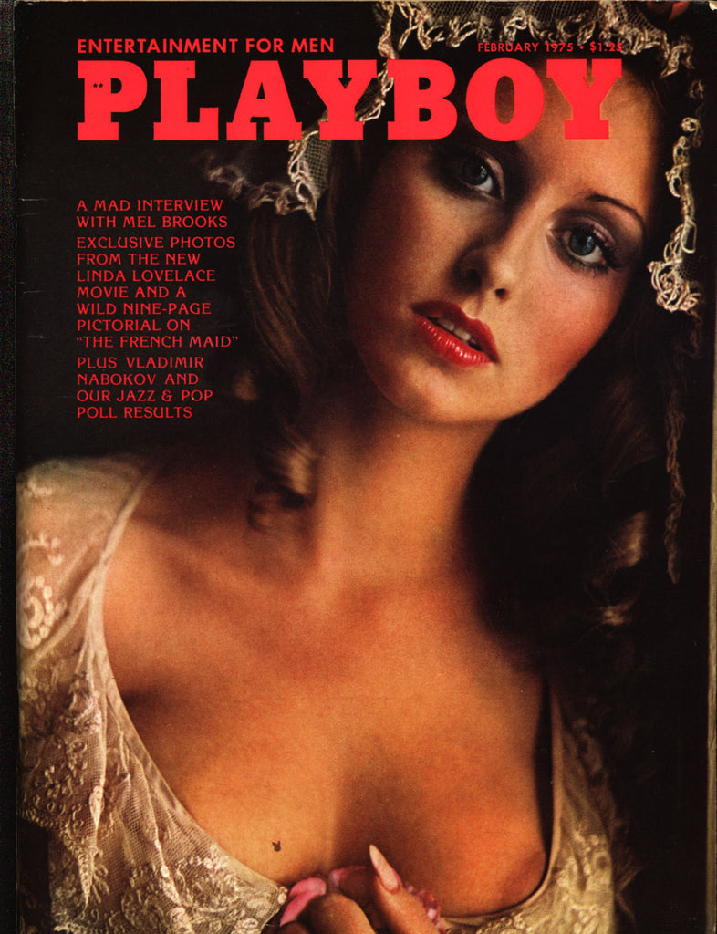... SIGNED Linda Lovelace PLAYBOY Magazine February 1975 Nude for President  Spead Inscribed Autograph Mel Brooks Laura