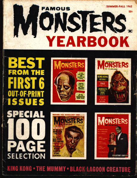 SIGNED FAMOUS MONSTERS of Filmland 1962 #1 Yearbook Inscribed Autographed by Forrest J Ackerman Rare Scarce Horror Movie Warren Publications