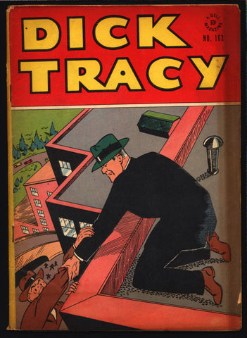 "'DICK TRACY' FC #163 1948 Chester Gould Dell Four Color Comics Series crime comics Detective Newspaper Comic Strips ""Funnies"""