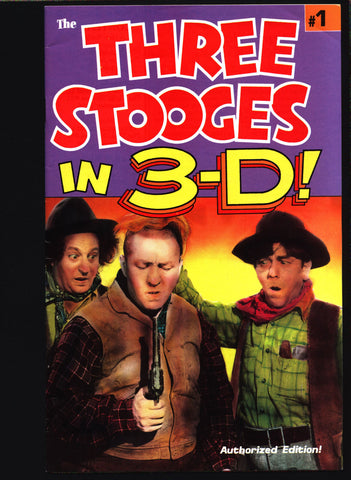 THREE STOOGES in 3-D #1 Norman Maurer Slapstick screwball Adaptations Moe Howard, Larry Fine, Curly Howard,