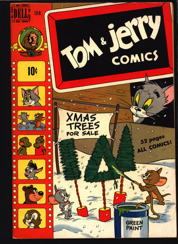 TOM and JERRY #66 CHRISTMAS 1950 Dell Comics, Hanna Barbera, Cartoons, Droopy, Barney Bear,