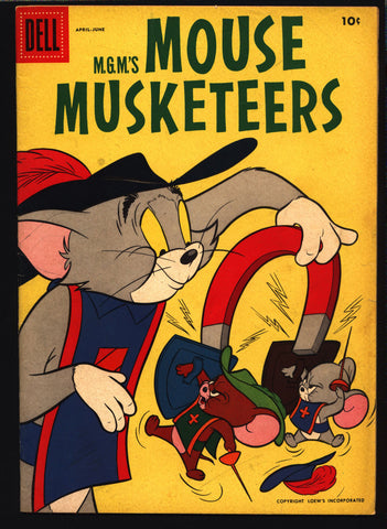 MOUSE MUSKETEERS Tom and Jerry #8 (#1) 1957 Dell Comics, Hanna Barbera, Cartoons, Jerry's French nephew- Tuffy,Big Spike and Little Tyke,