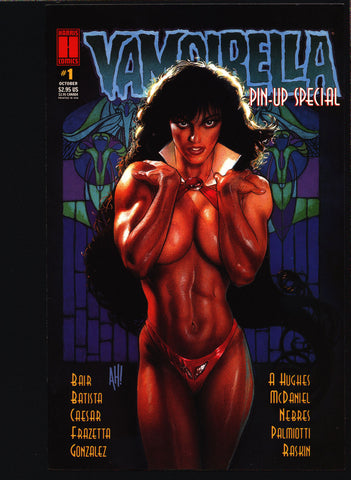 VAMPIRELLA Pin-Up Special Harris Comics, Frazetta,Adam Hughes,Colleen Doran,Jose Gonzales, Vampire Vampy continues from Warren Publications,