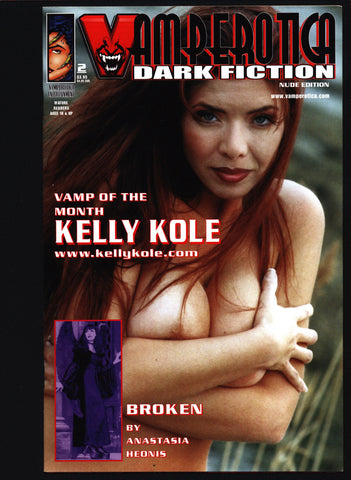 Vamperotica, Dark Fiction #1 by Dan Membiela, Sexy Vamp Kelly Kole Nude Vampire Photo Cover Horror Comic Book