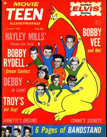 MOVIE TEEN 1962 ELVIS Issue American Bandstand Warren Beatty Connie Francis Bobby Rydell & Vee Haley Mills Annette Funicello Rock N Roll