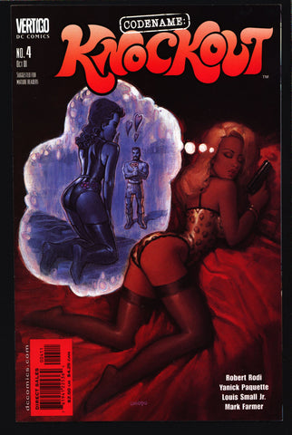 Codename: KNOCKOUT #4 Robert Rodi Louis Small, Sexy Adult Pin Up Man From UNCLE James Bond Spy DC Comics Vertigo
