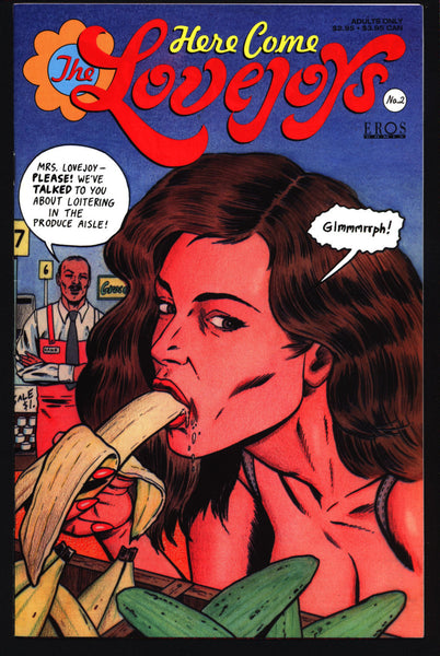 Here Come the Lovejoys #2 Bruce McCorkindale Adult Family Fun Pin Up Eros Comix Fantagraphics Comic Book