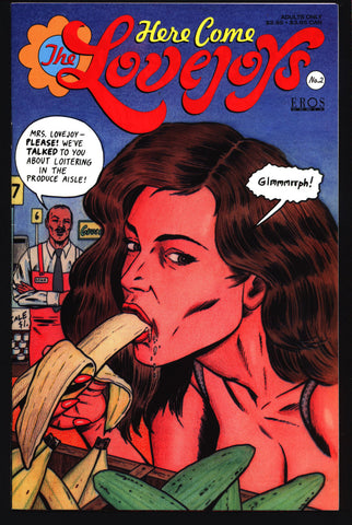 NSFW Here Come the Lovejoys #2 Bruce McCorkindale Adult Family Fun Pin Up Eros Comix Fantagraphics Comic Book